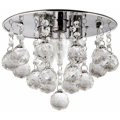 LAMPA sufitowa VEN P-E 1437/3-25 kryształowa OPRAWA glamour plafon crystal przezroczysta, kolor Srebrny