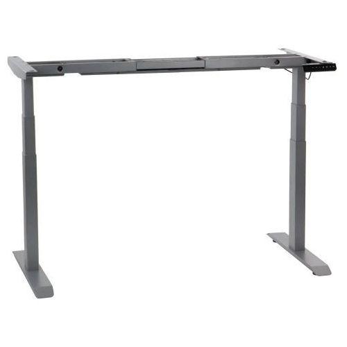 Stema - ut Dwusilnikowy stelaż metalowy biurka (stołu) z elektryczną regulacją wysokości, elektryczny, ut04-3t/a, kolor alu - noga 3-segmentowa
