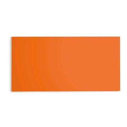 Szklana tablica suchościeralna, 2000x1000 mm, jaskrawy pomarańczowy marki Aj produkty