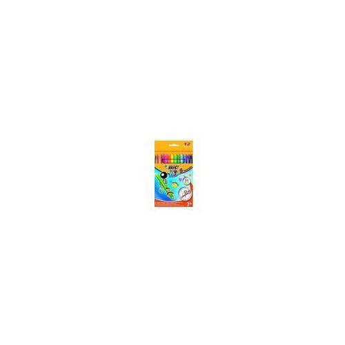 Kredki świeciwe turn & color pudełko 12 kolorów marki Bic