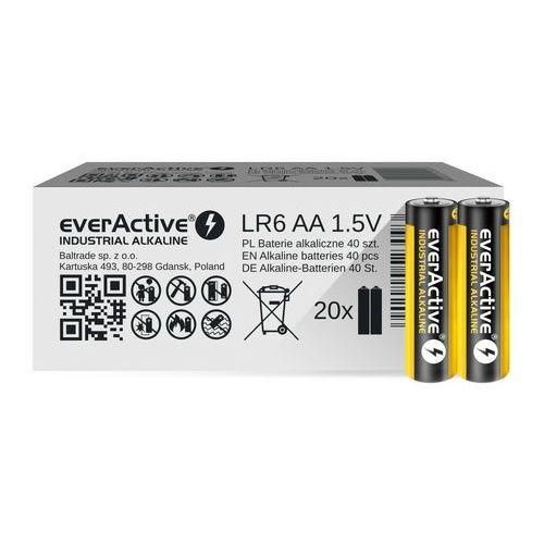 Everactive 40 x baterie alkaliczne industrial lr6 / aa (pakowane w zgrzewki shrink po 2szt.) (5902020523093)