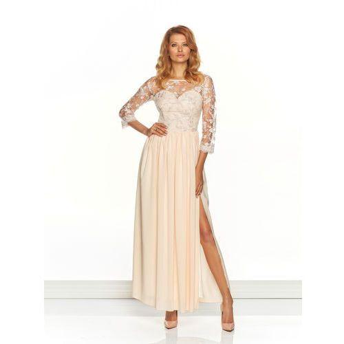 Sugarfree.pl Sukienka arabella w kolorze brzoskwiniowym