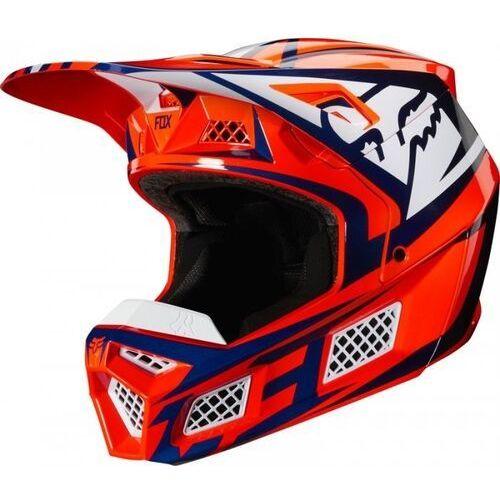 Fox kask 0ff-road v-3 idol orange/blue