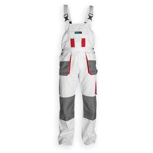Spodnie robocze DEDRA BH4SO-M ogrodniczki Biały (rozmiar M/50)