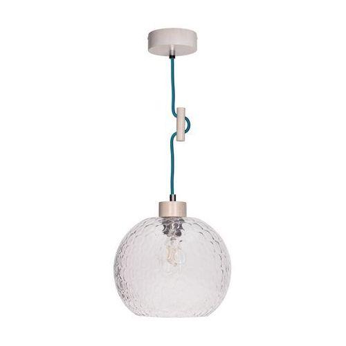 Spotlight Lampa wisząca zwis oprawa spot light svea 1x60w e27 dąb bielony/petrol 1357332 (5901602351222)