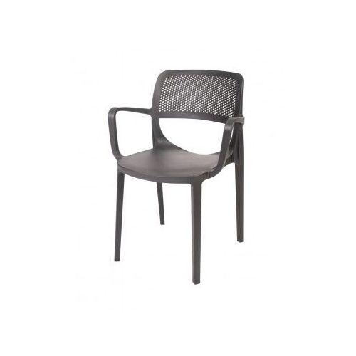 Krzesło do ogródków piwnych   antracytowe   580x520x(H)820 mm