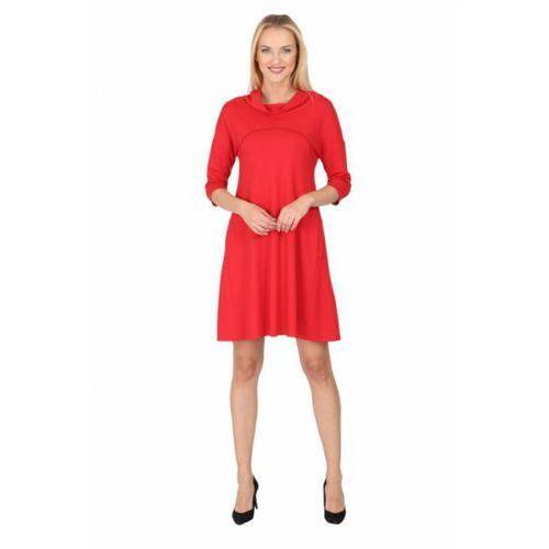 Sukienka dzienna Model 1030 Red, kolor czerwony
