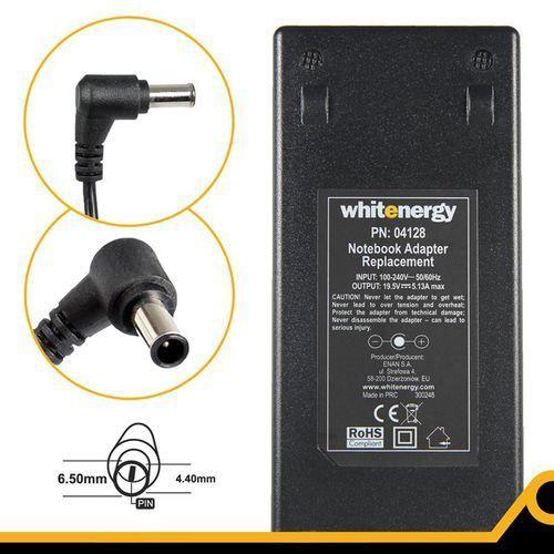 Whitenergy Zasilacz do laptopa zasilacz 19.5v/5.13a 100w wtyczka 6.5 x 4.4mm + pin sony (04128) darmowy odbiór w 20 miastach!