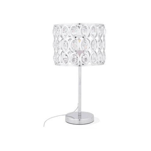 Beliani Lampa stołowa metalowa srebrna tenna (4260580927609)