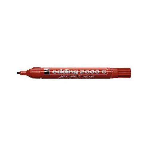 EDDING Marker permanentny E-2000, aluminiowa obudowa, okrągła końcówka 1,5-3 mm, czerwony