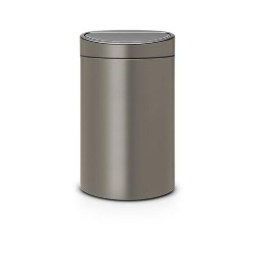Brabantia - kosz touch bin 40 l - wiaderko plastikowe - platynowy - platynowy (8710755114908)