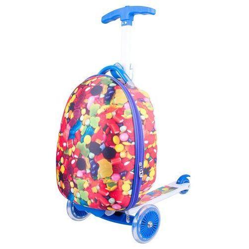 Hulajnoga trójkołowa z plecakiem dla dzieci WORKER Lagy - Kolor Cukierkowy