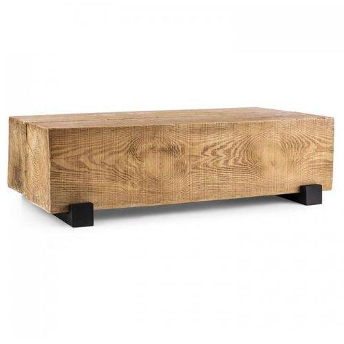 blockhouse lounge ogrodowy drewniany stół w kształcie belki marki Blumfeldt