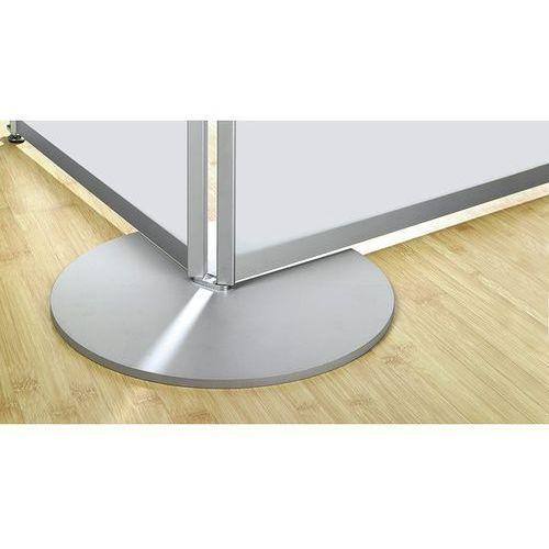 Metalowa noga talerzowa, aluminiowo-srebrny, RAL 9006, opak. 1 szt. Do pojedyncz