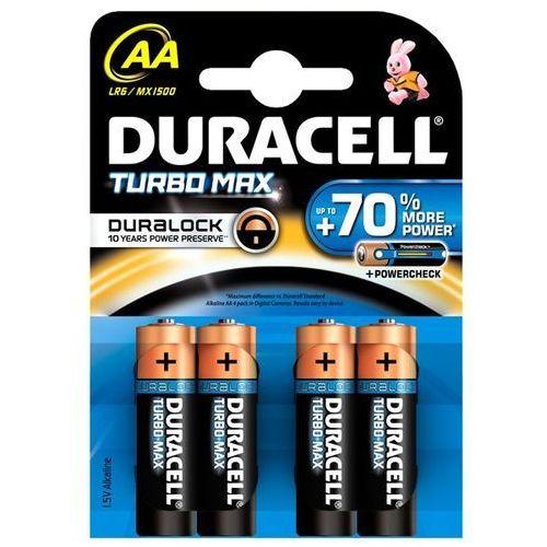 4 x bateria alkaliczna duralock turbo max lr6 aa (blister) marki Duracell