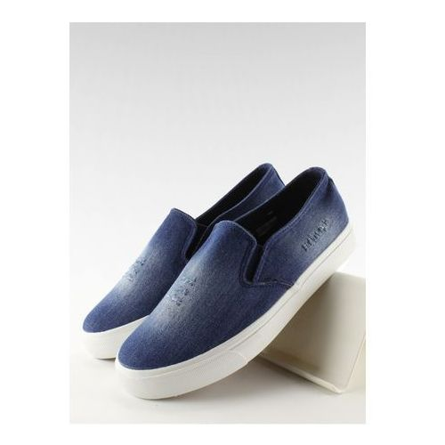 Inello Trampki slip-on model k-89 dark blue