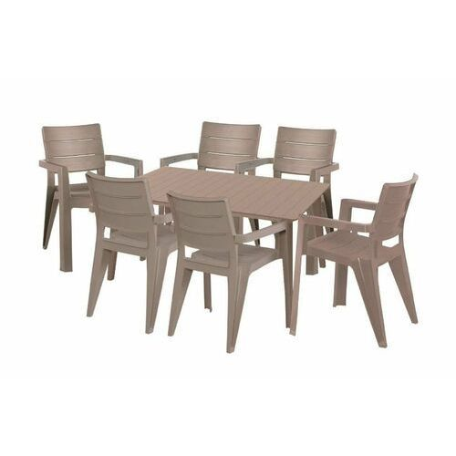 Hecht czechy Hecht anegada beige 6 meble ogrodowe zestaw mebli ogrodowych stół + 6 krzeseł - ewimax oficjalny dystrybutor - autoryzowany dealer hecht