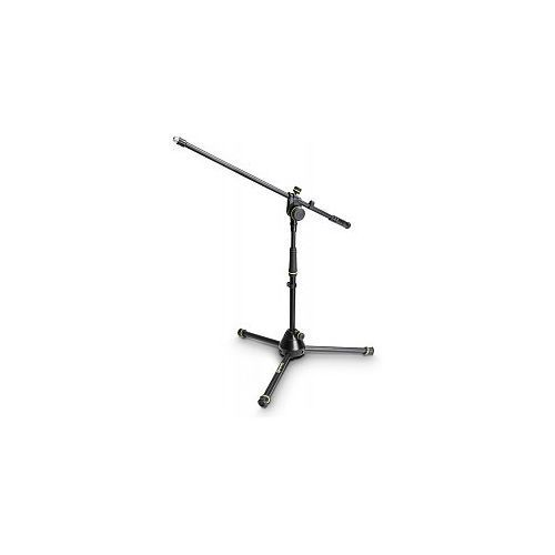 Gravity MS 4221 B - statyw mikrofonowy, Short Microphone Stand With Folding Tripod Base And 2-Point Adjustment Boom