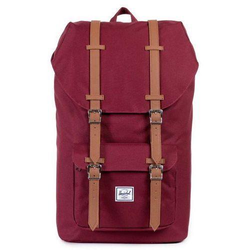 Herschel little america plecak czerwony 2018 plecaki szkolne i turystyczne