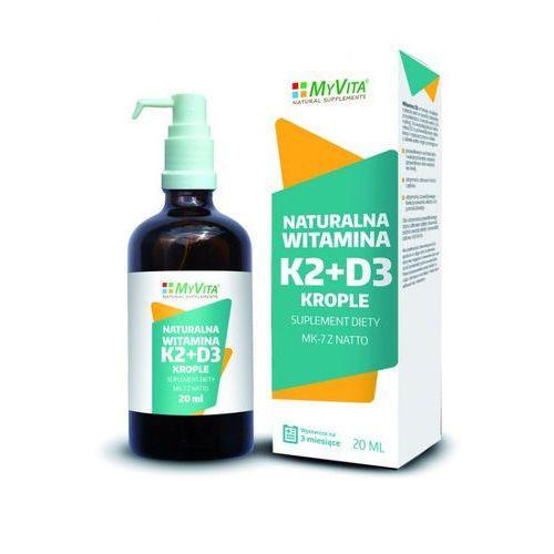 Płyn Witamina K2 + D3 w płynie 20ml 400 kropli MyVita