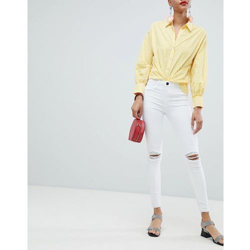 molly ripped skinny jeans - white, River island