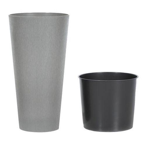 Prosperplast Doniczka tubus slim beton : średnica - 250 mm, kolor - beton