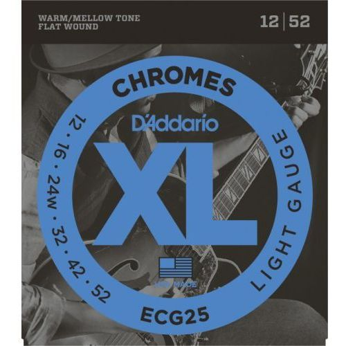 ecg25 12-52 struny do gitary elektr. marki D'addario