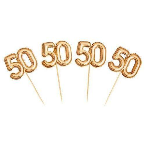 """Pikery do dekoracji na 50 urodziny """"glitz & glamour"""" złote marki Party world"""