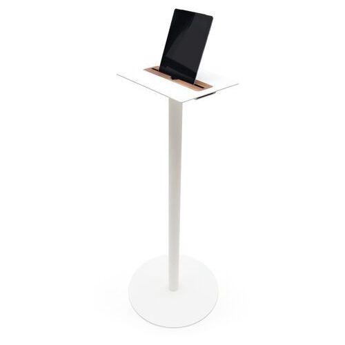 Spell stolik na tablet nomad wysoki w kolorze białym, drewno orzech nomad-high