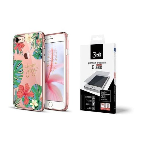 Esr Zestaw | etui art case rose of sharon + folia 3mk flexible - iphone 7 / 8