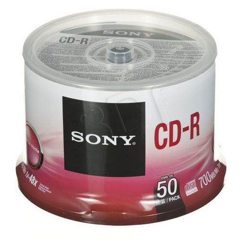 Płyty Sony CD-R Sony 700MB 48x - Cake - 50szt.