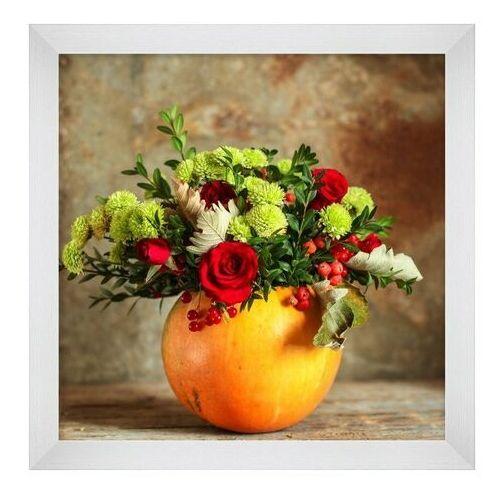 Obraz 20 x 20 cm Pomarańczowy wazon (5901554535718)