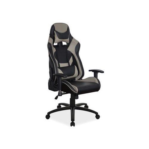 Fotel supra gamingowy czarny/szary, obciążenie do 140 kg! marki Signal