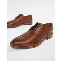 leather brogues in light brown - brown marki River island