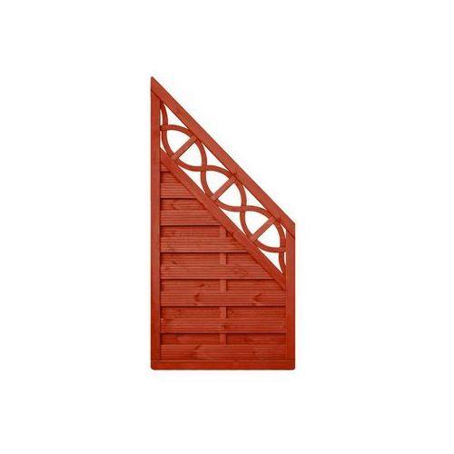 Werth-holz Płot skośny 90x180 cm drewniany wien (5902860165682)