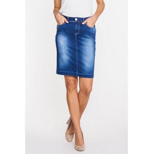 Spódnica dżinsowa o klasycznym kroju - RJ Rocks Jeans, kolor niebieski