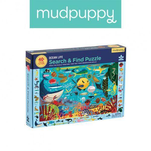 puzzle szukaj i znajdź życie oceanu 64 elementy 4+ marki Mudpuppy