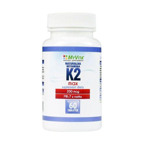 Tabletki Witamina K2 MK-7 MAX z natto 200mcg (MyVita) 60 tabl.. Najniższe ceny, najlepsze promocje w sklepach, opinie.