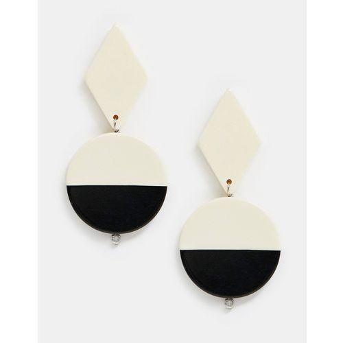 Mango split shape drop earrings in multi - multi
