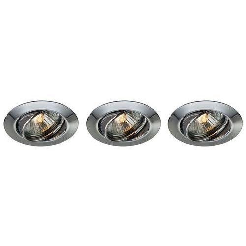 Philips massive 59333/11/10 - zestaw 3x łazienkowa oprawa wpuszczana opal 1xgu10/50w/230v chrom (5412253842125)