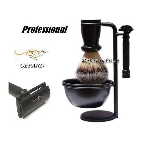 Gepard Zestaw do golenia 7115 pędzel + maszynka + stojak linia black edition b7115-pr