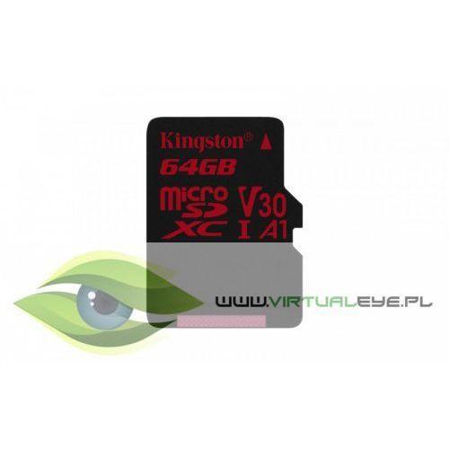 microsd 64gb canvas react 100/80mb/s u3 uhs-i v30 a1 marki Kingston