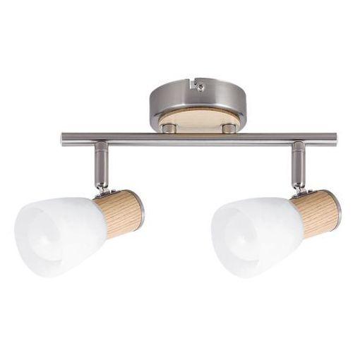 Listwa lampa sufitowa Rabalux Gavin 2x40W E14 satyna/buk 6487, 6487