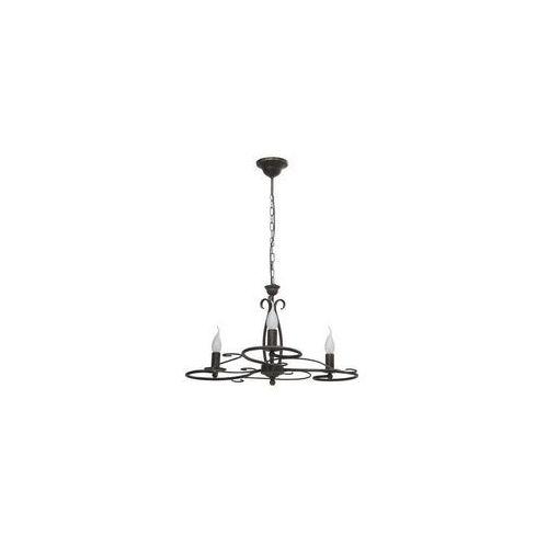 Lampa wisząca Nowodvorski Dakar III 3645 zwis 3x60W E14 czarna, 3645