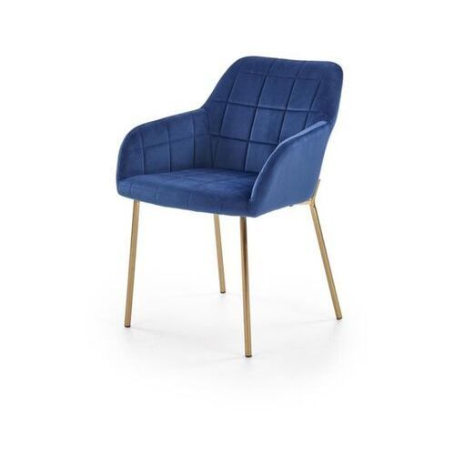 Nowoczesne krzesło rufo, welur granatowy