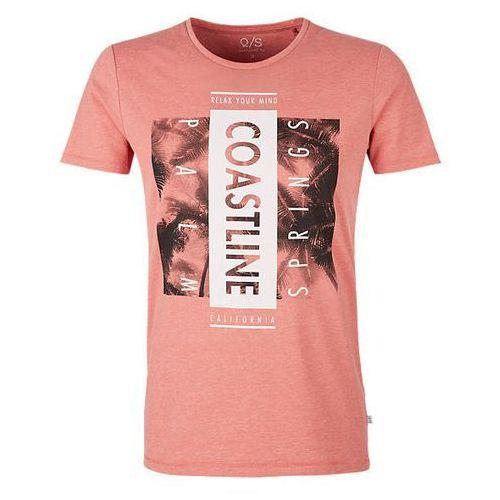 Q/S designed by T-shirt męski XL, pomarańczowy, 1 rozmiar