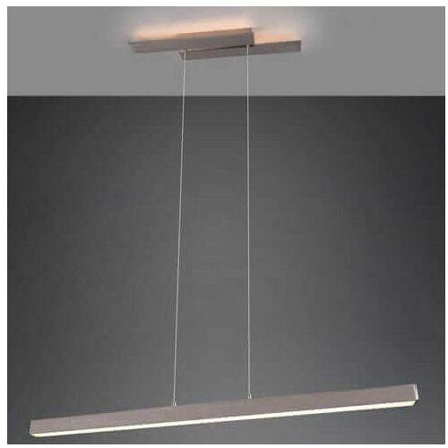 Wisząca LAMPA belka BELFAST 375510407 Trio metalowa OPRAWA prostokątny ZWIS LED 44W 3000K ściemnialny nikiel