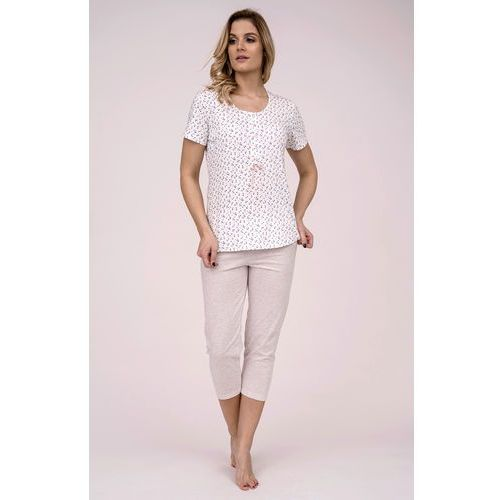 Piżama Cana 175 kr/r M-XL L, ecru-beżowy melanż. Cana, L, M, XL, kolor beżowy
