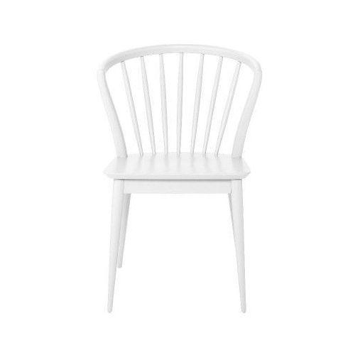 Bloomingville Krzesło stołowe drewniane laura, białe -