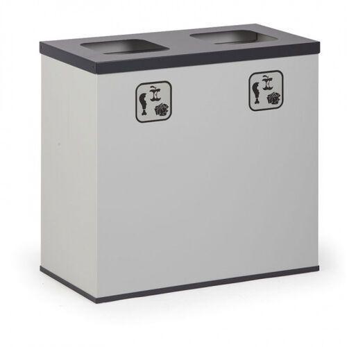 Kosz do segregacji śmieci 2x 42 l z wewnętrznym pojemnikiem